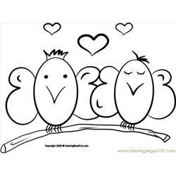 09 Birds 2 Free Coloring Page for Kids