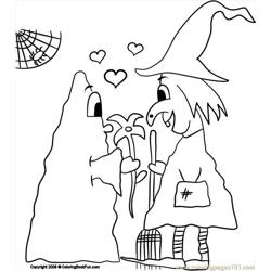 11 Ghost 3 Free Coloring Page for Kids