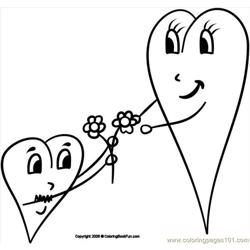14 Hearts 3 Free Coloring Page for Kids