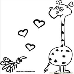 18 Giraffe 3 Free Coloring Page for Kids
