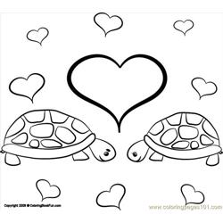 21 Turtles 3 Free Coloring Page for Kids