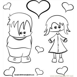 22 Boy&girl 3 Free Coloring Page for Kids
