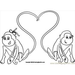 24 Monkeys 4 Free Coloring Page for Kids