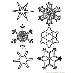 Snowflake Free Coloring Page for Kids