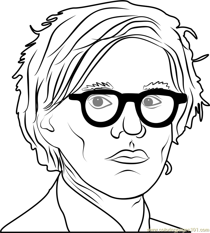 Andy Warhol Coloring Page Free Andy Warhol Coloring Pages