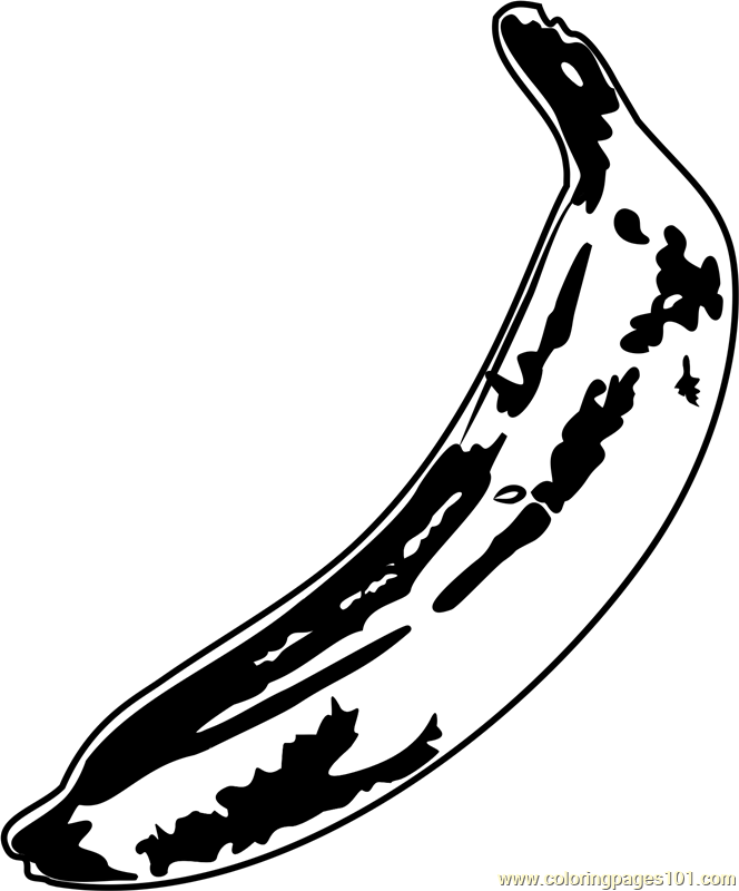 Banana by Andy Warhol Coloring