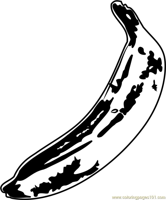 Banana by Andy Warhol Coloring