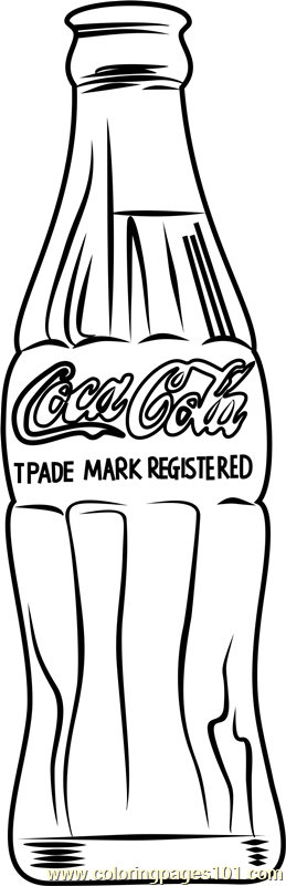 Coca Cola by Andy Warhol Coloring Page - Free Andy Warhol Coloring ...