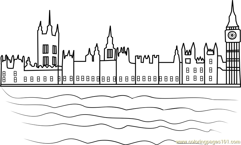 Houses of Parliament Coloring Page - Free Andy Warhol ...