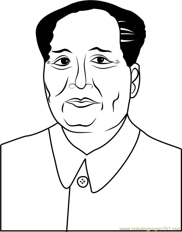 Mao by Andy Warhol Coloring Page