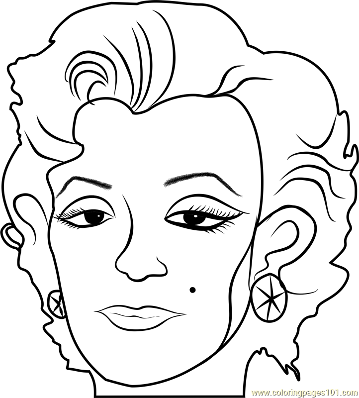 Marilyn by Andy Warhol Coloring Page
