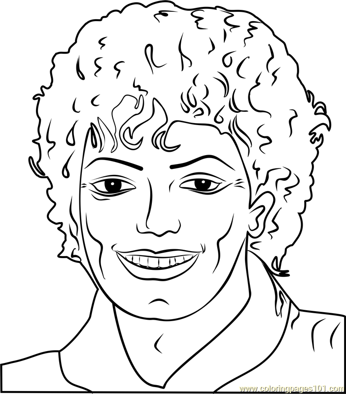 Michael Jackson by Andy Warhol Coloring Page