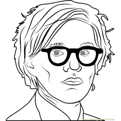 Andy Warhol Free Coloring Page for Kids