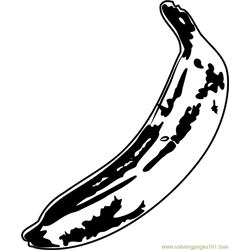 Banana by Andy Warhol Free Coloring Page for Kids