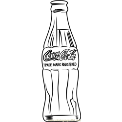 Coca Cola by Andy Warhol Free Coloring Page for Kids