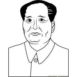 Mao by Andy Warhol Free Coloring Page for Kids