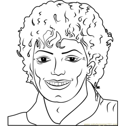 Michael Jackson by Andy Warhol Free Coloring Page for Kids