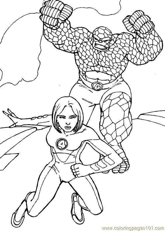 Coloring pages: Coloring pages: Fantastic Four, printable for kids &  adults, free | 792x565