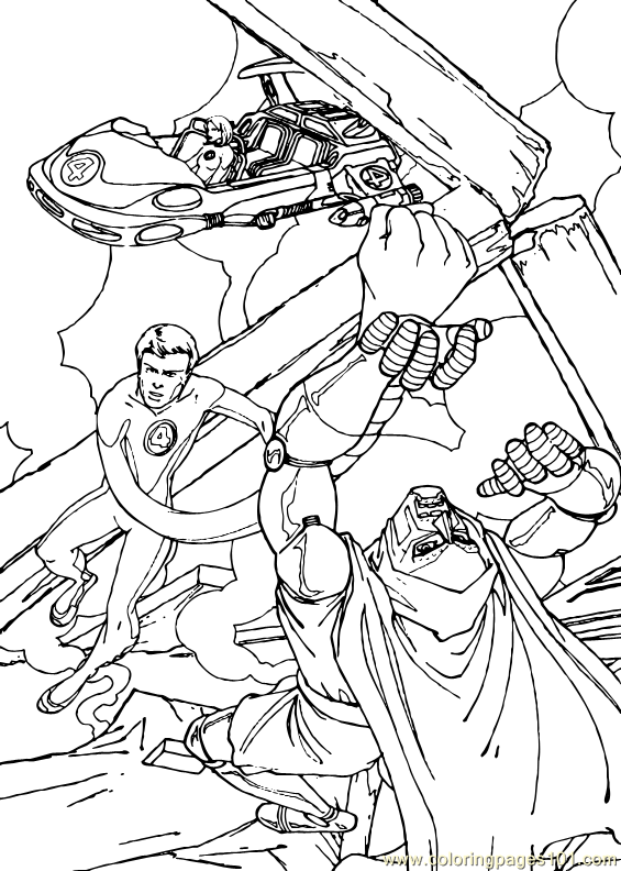 Fantastic Four Coloring Page 30 Coloring Page Free Fantastic