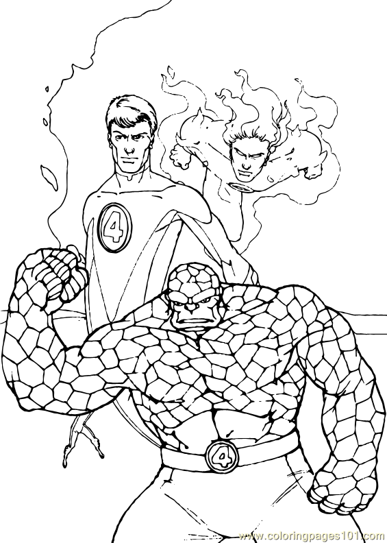 Fantastic Four Coloring Page 33 Coloring Page Free Fantastic