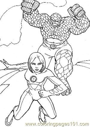 Fantastic Four48 Coloring Page