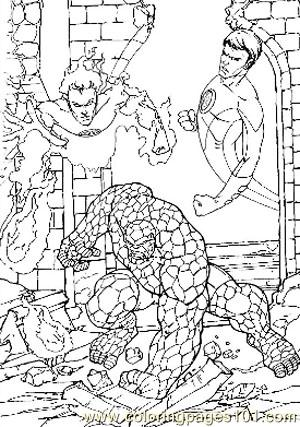 Fantastic Four58 Coloring Page
