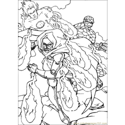 Fantastic Four Coloring Page (10)