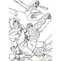 Fantastic Four Coloring Page (13)