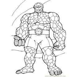 Fantastic Four Coloring Page (15)