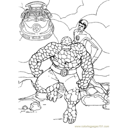 Fantastic Four Coloring Page (16)