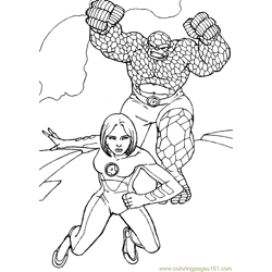 Fantastic Four Coloring Page (26)