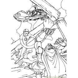 Fantastic Four Coloring Page (30)