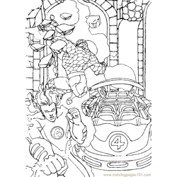 Fantastic Four Coloring Page (31)