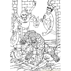 Fantastic Four Coloring Page (32)