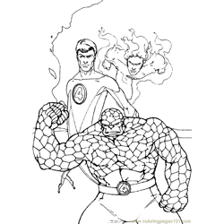 Fantastic Four Coloring Page (33)