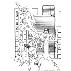 Fantastic Four Coloring Page (35)