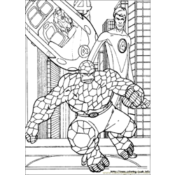 Fantastic Four Coloring Page (36)