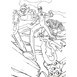 Fantastic Four Coloring Page (3)