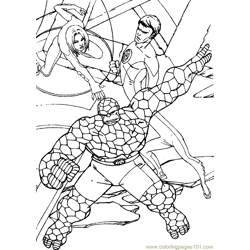 Fantastic Four Coloring Page (5)