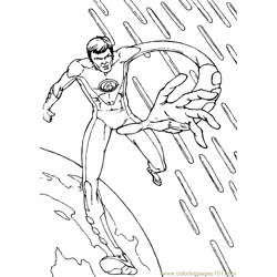 Fantastic Four Coloring Page (6)