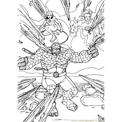 Fantastic Four Coloring Page (8)