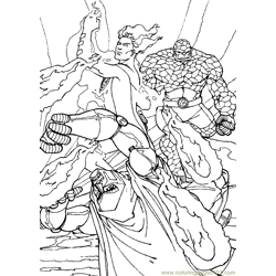 Fantastic Four Coloring Page (9)