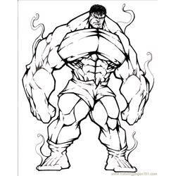 Fantastic Four12 Free Coloring Page for Kids