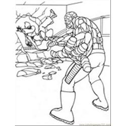 Fantastic Four13 Free Coloring Page for Kids