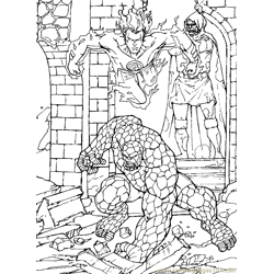 Fantastic Four.jpg (37) Free Coloring Page for Kids
