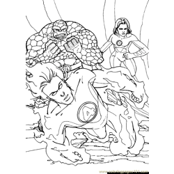 Fantastic Four.jpg (38) Free Coloring Page for Kids