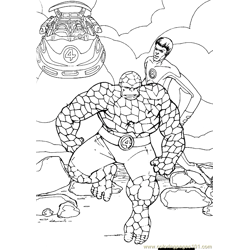 Fantastic Four.jpg (39) Free Coloring Page for Kids