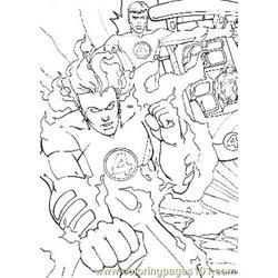 Fantastic Four14 Free Coloring Page for Kids