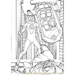 Fantastic Four17 Free Coloring Page for Kids