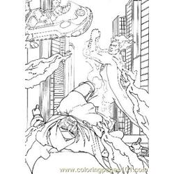 Fantastic Four18 Free Coloring Page for Kids